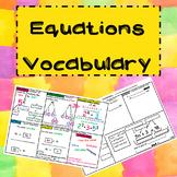 Equations Vocabulary  Independent Math Station TEKS 6.7a, 6.7b
