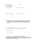 Equations With Variables on Both Sides W/ Word Problems #2