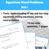 Equations Word Problems - Set 1
