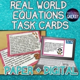 Equations & Word Problems Task Cards 7th Grade 7.EE.B.4a
