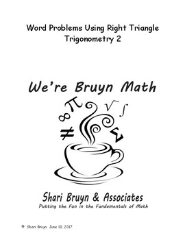 Equations - Word Problems using Right Triangle Trig 2