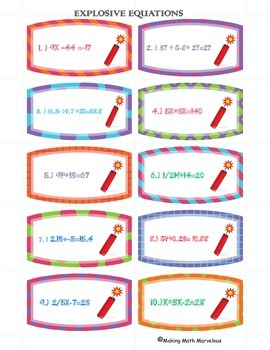 Equations and Adding Like Terms