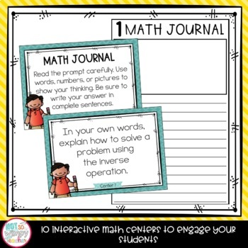 Equations and Algebra Fifth Grade Math Centers