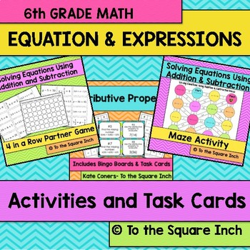 Equations and Expressions Activities and Task Cards