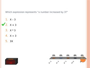 Equations and Expressions Clicker Game