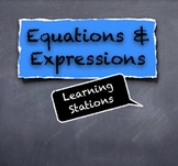 Equations and Expressions Learning Stations