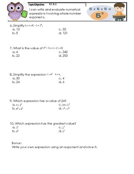Equations and Expressions Practice Sets and Quizzes