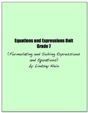 Equations and Expressions Bundle