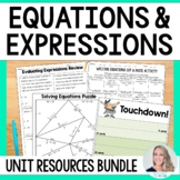 Equations and Expressions Unit Resources
