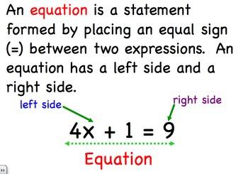 Equations and Inequalities - Algebra