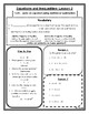 Equations and Inequalities Notes