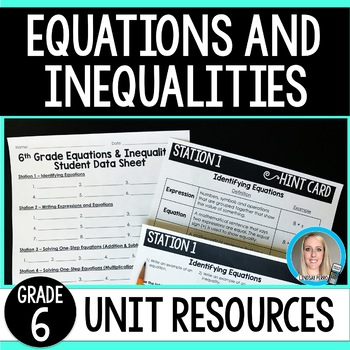 Equations and Inequalities Unit Resources : 6th Grade