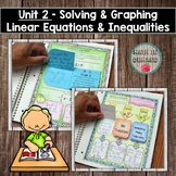 Equations and Inequalities - Algebra Interactive Notebook (Unit 2)