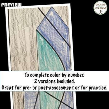 Equations and Inequalities Color by Number Activity  Great for Assessment