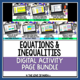 Equations and Inequalities Digital Activity Bundle for Goo