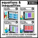 Equations and Inequalities Digital Math Activity Bundle |