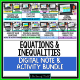 Equations and Inequalities Digital Note and Activity Bundle