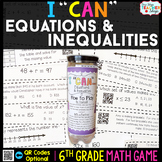 6th Grade Equations and Inequalities Game