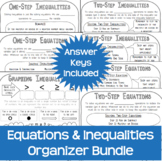 Equations and Inequalities Graphic Organizer Notes ISN Gro