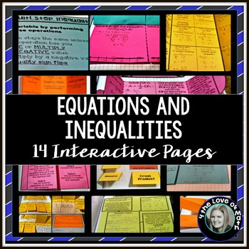 Equations and Inequalities: Interactive Notebook Pages