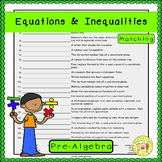 Equations and Inequalities Matching