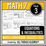 Equations and Inequalities (Math 7 Curriculum - Unit 3)