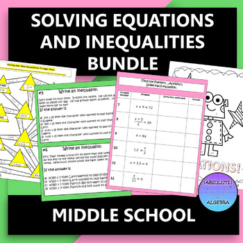 Equations and Inequalities Middle School Bundle
