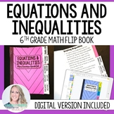 Equations and Inequalities Mini Tabbed Flip Book for 6th Grade Math