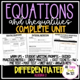 Equations and Inequalities: No PREP Complete Unit + Differentiated + Answer Keys