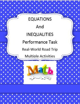 Equations and Inequalities Performance Task