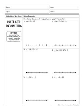 Equations and Inequalities (Pre-Algebra - Unit 3)
