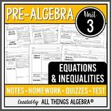 Equations and Inequalities (Pre-Algebra Curriculum - Unit 3)