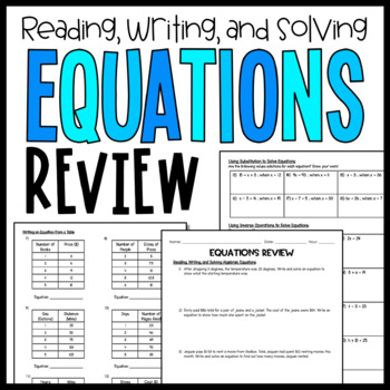 Equations and Inequalities (Review)