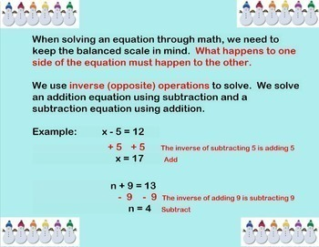 Equations and Inequalities Review and Quiz Smartboard Lesson One Step 1-Step