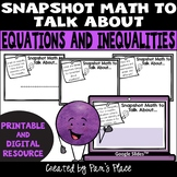 Equations and Inequalities Math Talk