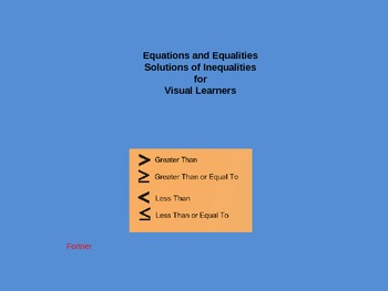 Equations and Inequalities: Solutions of Inequalities for Visual Learners