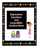 Expressions, Equations, and Inequalities Interactive Notes