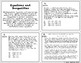 Equations and Inequalities Task Cards