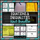 Equations and Inequalities Unit Bundle