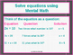 Power-Point:  Equations and Inequalities in Algebra