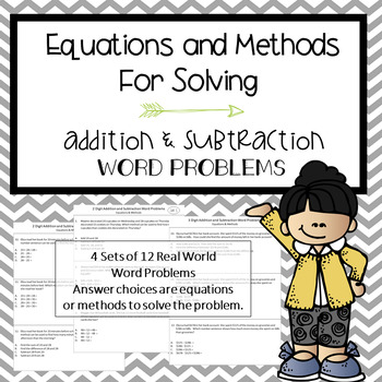 Equations and Methods for Addition and Subtraction Word Problems
