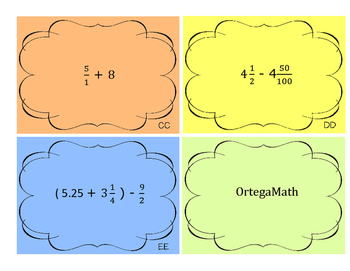 Equations and Order of Operations Task Cards