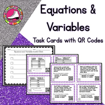 Equations and Variables Task Cards