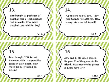 Equations and Word Problems:  Set 2