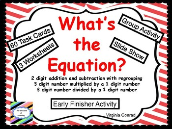Equations and Word Problems:  Set 3