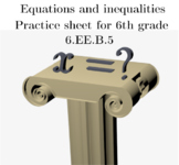 Equations and inequalities for 6th grade 6.EE.B.5