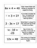 Equations and mathematical statements card sort EDITABLE (