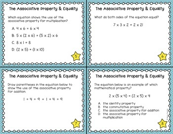 Equations and the Associative Property Task Cards (SOL 4.16)