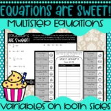 Equations are Sweet! Solving Multi-Step Equations Activity