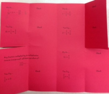 Equations Containing Fractions Foldable